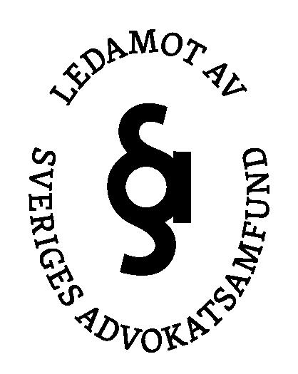 Logga för ledamot av Sveriges advokatsamfund